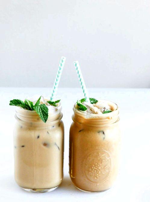 10 Fabulous Coffee Recipes- Fresh Mint Iced Coffee