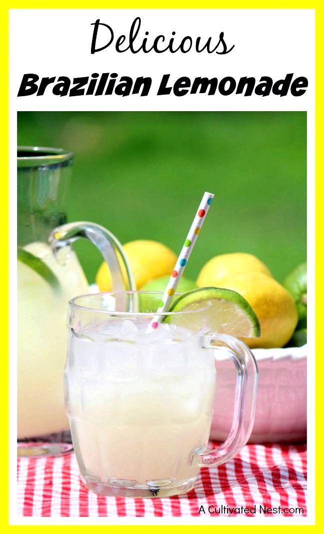 Delicious Brazilian lemonade (AKA Swiss lemonade)