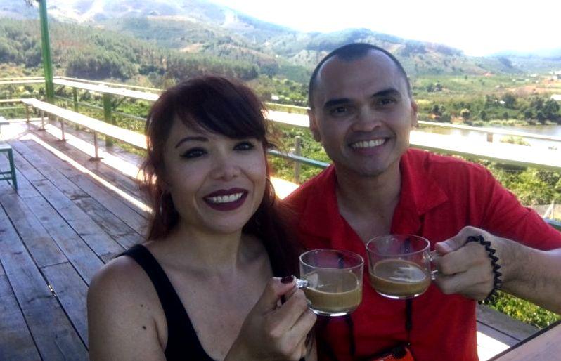 Dalat Coffee Plantation in Da Lat, Vietnam. Central Vietnam in Southeast Asia