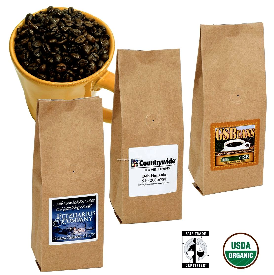 Fair trade/organic coffee Viennese, French, Italian