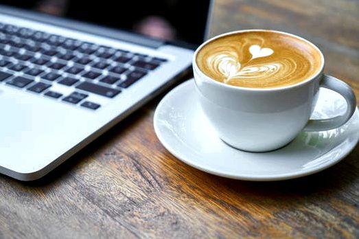 Free stock photo of caffeine, coffee, cup, laptop