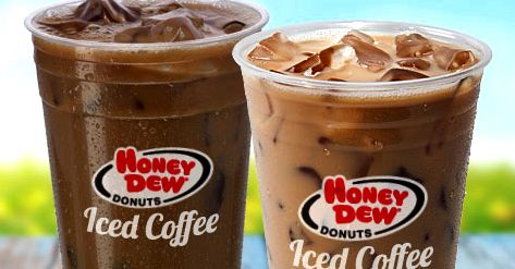 Iced Coffee with Milk from Honey Dew Donuts