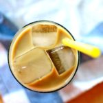 Milk and honey cold made iced coffee