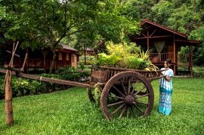 Hpa-an Lodge gardens in Myanmar