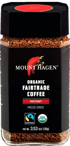 The very best instant coffee is mount hagen Grub Street Diet where