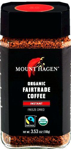 The very best instant coffee is mount hagen Mount Hagen